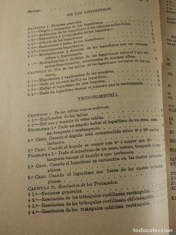 Libros de segunda mano de Ciencias: LIBRO TABLAS DE LOGARITMOS POR VICENTE VAZQUEZ QUEIPO - Foto 4 - 125815031