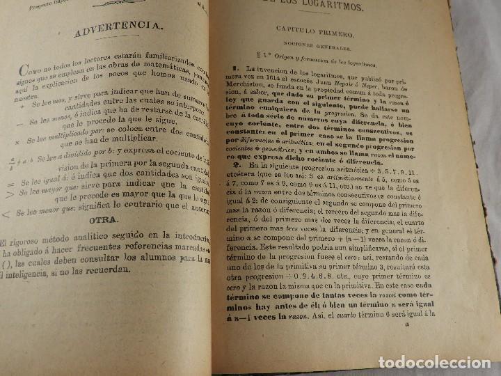Libros de segunda mano de Ciencias: LIBRO TABLAS DE LOGARITMOS POR VICENTE VAZQUEZ QUEIPO - Foto 6 - 125815031