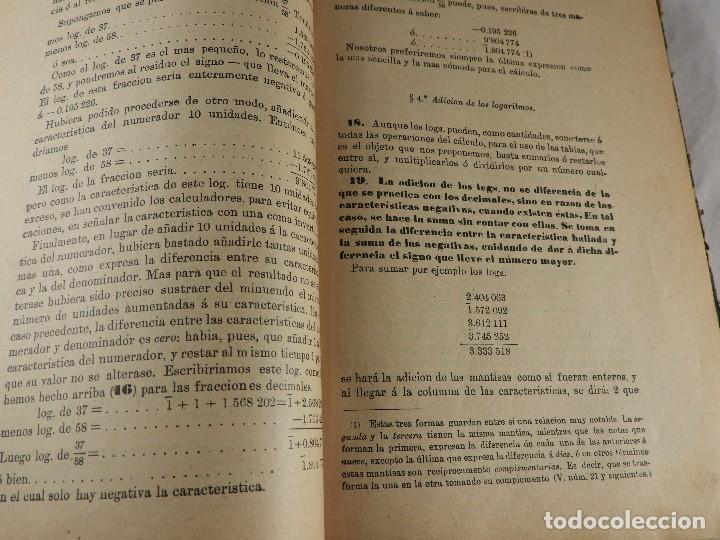 Libros de segunda mano de Ciencias: LIBRO TABLAS DE LOGARITMOS POR VICENTE VAZQUEZ QUEIPO - Foto 7 - 125815031