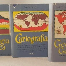 Libros de segunda mano: LOTE DE 3 LIBROS: GEOGRAFÍA GENERAL, GEOLOGÍA FÍSICA Y CARTOGRAFÍA. Lote 125842487