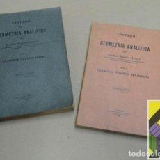 Libros de segunda mano de Ciencias: MATAIX ARACIL, CARLOS: TRATADO DE GEOMETRÍA ANALÍTICA (2 VOLS) I:GEOMETRÍA ANALÍTICA PLANA. .... Lote 125902631