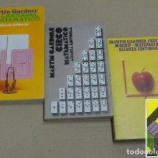 Libros de segunda mano de Ciencias: GARDNER, MARTIN: CARNAVAL MATEMÁTICO/ CIRCO MATEMÁTICO/ FESTIVAL MÁGICO-MATEMÁTICO (3 VOLS) .... Lote 126003203