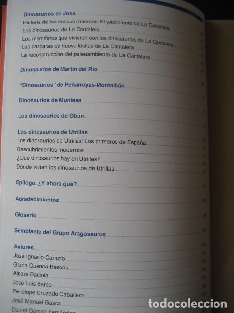 Libros de segunda mano: LOS DINOSAURIOS DE LAS CUENCAS MINERAS DE TERUEL. FOSILES, PALEONTOLOGIA - Foto 3 - 142457208