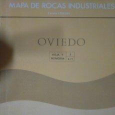 Libros de segunda mano: MAPA DE ROCAS INDUSTRIALES. OVIEDO. INSTITUTO GEOLÓGICO Y MINERO DE ESPAÑA. ESCALA 1:200.000. RÚSTIC. Lote 126121544