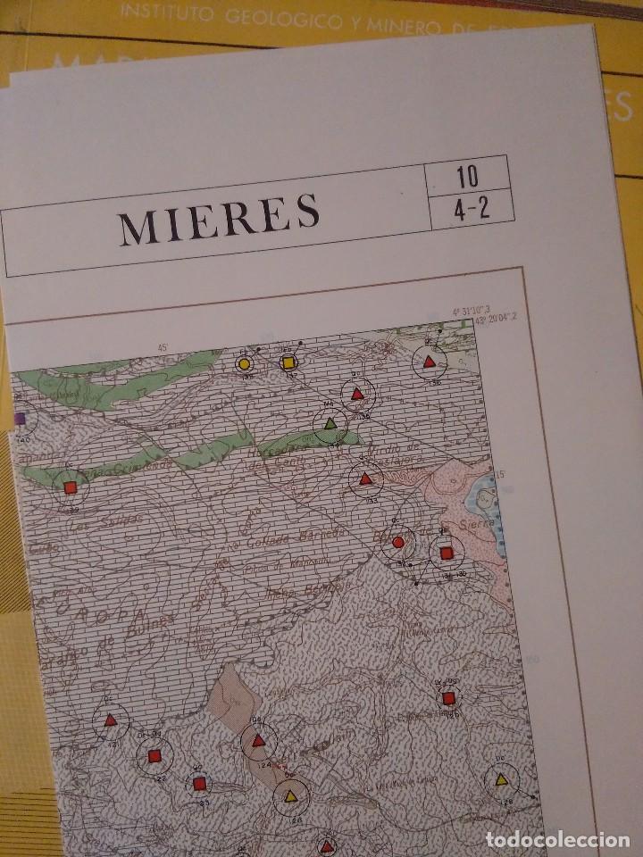 Libros de segunda mano: MAPA DE ROCAS INDUSTRIALES. MIERES. INSTITUTO GEOLÓGICO Y MINERO DE ESPAÑA. ESCALA 1:200. - Foto 2 - 126122487