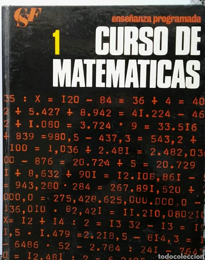 CURSO DE MATEMÁTICAS 1 ENSEÑANZA PROGRAMADA TAPA DURA (Libros de Segunda Mano - Ciencias, Manuales y Oficios - Física, Química y Matemáticas)