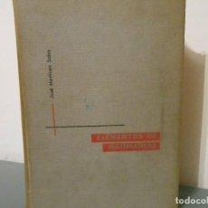 Libros de segunda mano de Ciencias: ELEMENTOS DE MATEMATICAS - JOSE MARTINEZ SALAS. Lote 126523871
