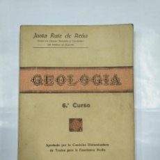 Libros de segunda mano: GEOLOGIA. 6º CURSO. JUSTO RUIZ DE AZUA. DOCTOR DEL INSTITUTO DE LOGROÑO. 1940. TDK307. Lote 126579447