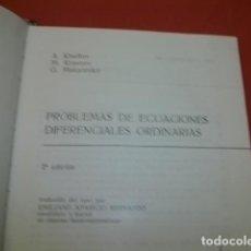 Libros de segunda mano de Ciencias: PROBLEMAS DE ECUACIONES DIFERENCIALES ORDINARIAS - M. L. KRASNOV. A. I. KISELIOV. G. I. MAKARENKO.. Lote 126704755