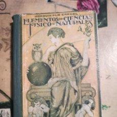 Libros de segunda mano de Ciencias: ELEMENTOS DE CIENCIAS FÍSICO-NATURALES. GRADO SUPERIOR - JOAQUIN PLA CARGOL - 1959. Lote 126863867