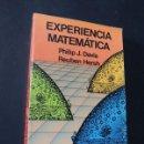 Libros de segunda mano de Ciencias: EXPERIENCIA MATEMATICA / PHILIP J. DAVIS - REUBEN HERSH / ED. LABOR / SIN USAR. Lote 127570007