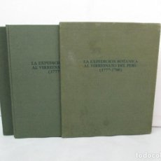 Libros de segunda mano: LA EXPEDICION BOTANICA AL VIRREINATO DEL PERU. 1777-1788. TOMO I Y II. EDITORIAL LUNWERG 1988. . Lote 127835491