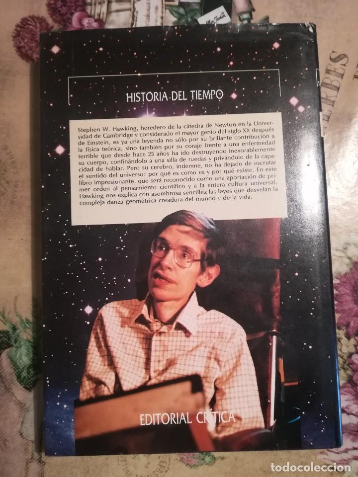 Libros de segunda mano de Ciencias: Historia del tiempo. Del Big Bang a los agujeros negros - Stephen W. Hawking - Foto 2 - 127873227