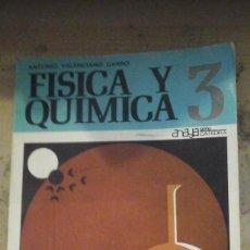 Libros de segunda mano de Ciencias: FÍSICA Y QUÍMICA 3 (SALAMANCA, 1969) ED. ANAYA. Lote 128272159