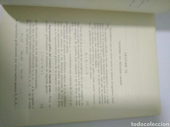 Libros de segunda mano de Ciencias: MATEMATICAS CUARTO CURSO BACHILLERATO PLAN 1957 ,SUMMA MADRID 1968.VER FOTOS - Foto 2 - 128293692