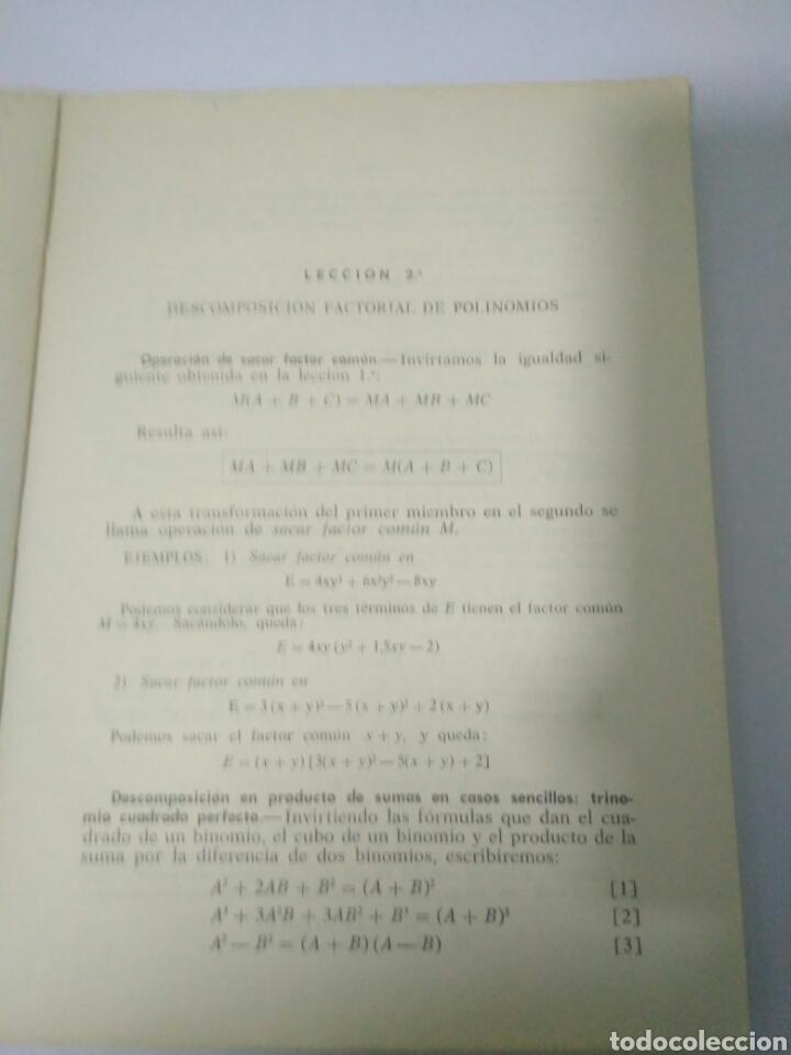 Libros de segunda mano de Ciencias: MATEMATICAS CUARTO CURSO BACHILLERATO PLAN 1957 ,SUMMA MADRID 1968.VER FOTOS - Foto 3 - 128293692