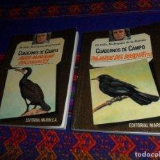 Libros de segunda mano: CUADERNOS DE CAMPO 26 PÁJAROS DEL BOSQUE II 30 AVES MARINAS COLONIALES. FÉLIX RODRÍGUEZ DE LA FUENTE. Lote 128317587