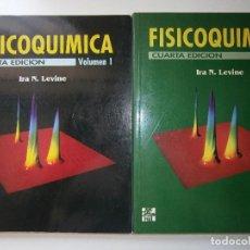 Libros de segunda mano de Ciencias: FISICOQUIMICA IRA LEVINE 2 TOMOS MC GRAW HILL 1999. Lote 128708051
