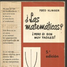 Libros de segunda mano de Ciencias - FRED KLINGER. ¿LAS MATEMATICAS? ¡PERO SI SON MUY FACILES! MARCOMBO - 128749155