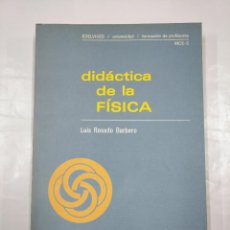 Libros de segunda mano de Ciencias: DIDACTICA DE LA FISICA. - LUIS ROSADO BARBERO. TDK350. Lote 128852903