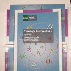 Libros de segunda mano de Ciencias: PSICOLOGIA MATEMÁTICA II 3 TOMOS. VOLUMEN I, II Y III. ARACELI MACIÁ, PAULA LUBIN. UNED. TDK313. Lote 128874639