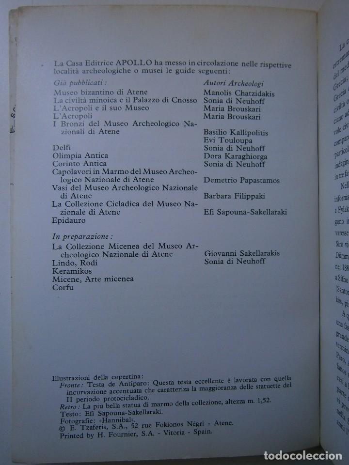 Libros de segunda mano: LA CIVILTA CICLADICA LA COLLEZIONE CICLADICA MUSEO ARCHEOLOGICO ATENE HERACLIO FOURNIER VITORIA - Foto 6 - 128939339