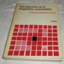 Libros de segunda mano de Ciencias: INTRODUCCION EN LA LINGUISTICA MATEMATICA S.MARCUS - E.NICOLAU/S.STATI. Lote 129101447