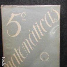 Libros de segunda mano de Ciencias - MATEMÁTICAS 5º CURSO. ALFONSO GIRONZA - 129115331