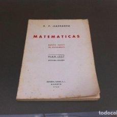 Libros de segunda mano de Ciencias: EMILIO PÉREZ CARRANZA. MATEMÁTICAS. QUINTO CURSO BACHILLERATO. PLAN 1957. ED. SUMMA 1965.. Lote 129137943