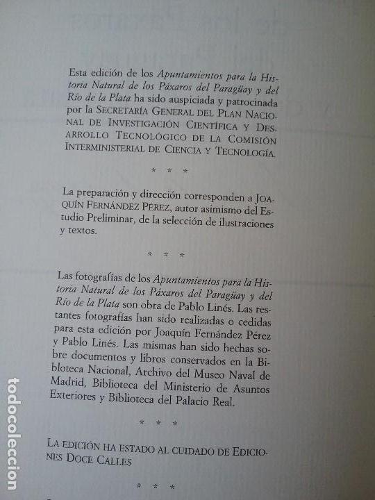 Libros de segunda mano: Apuntamientos para la Historia Natural de los Paxaros del Paraguay y del Rio de la Plata. Laminas. - Foto 7 - 129177103