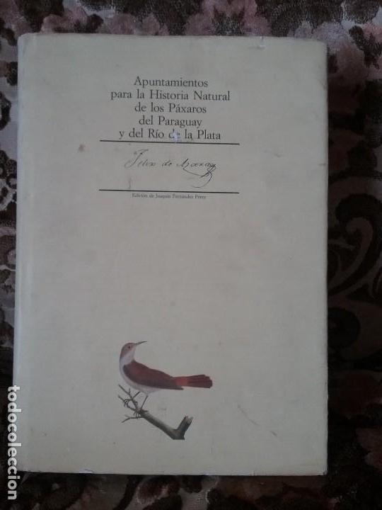 APUNTAMIENTOS PARA LA HISTORIA NATURAL DE LOS PAXAROS DEL PARAGUAY Y DEL RIO DE LA PLATA. LAMINAS. (Libros de Segunda Mano - Ciencias, Manuales y Oficios - Biología y Botánica)