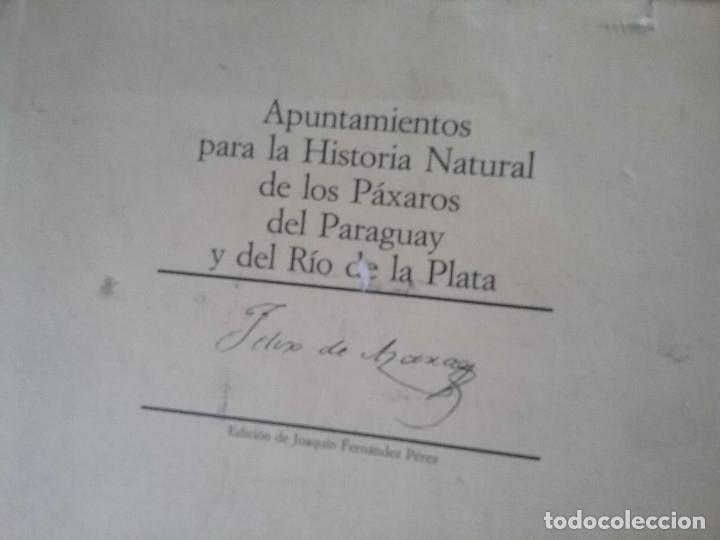 Libros de segunda mano: Apuntamientos para la Historia Natural de los Paxaros del Paraguay y del Rio de la Plata. Laminas. - Foto 12 - 129177103