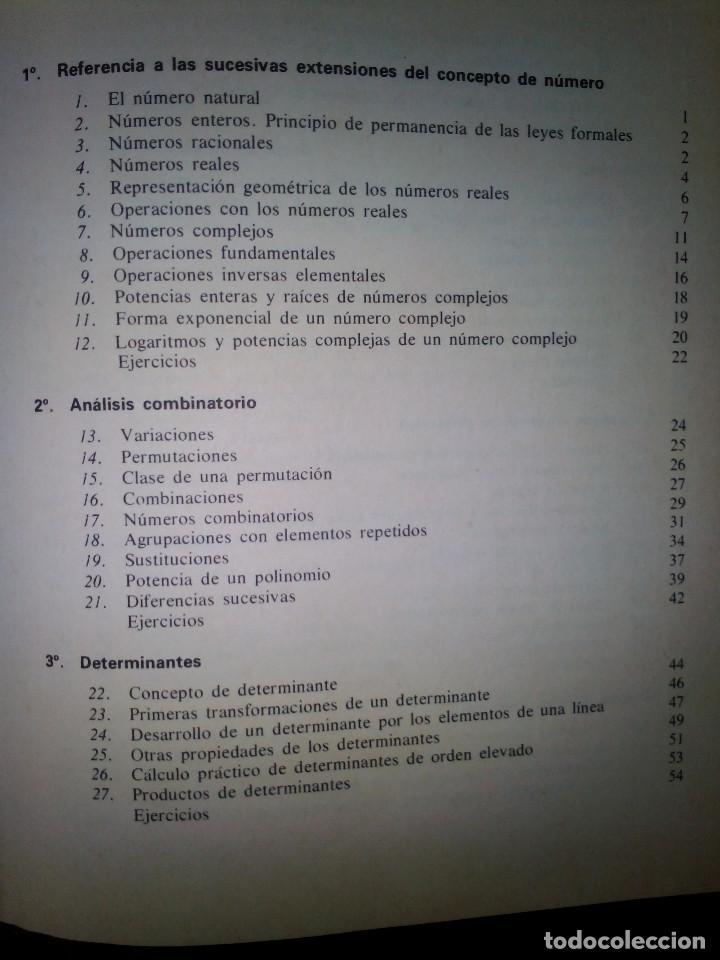 Libros de segunda mano de Ciencias: Elementos de Matemáticas. José Martínez Salas. - Foto 3 - 129220219