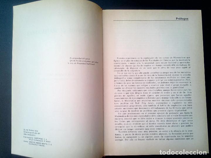 Libros de segunda mano de Ciencias: Elementos de Matemáticas. José Martínez Salas. - Foto 4 - 129220219