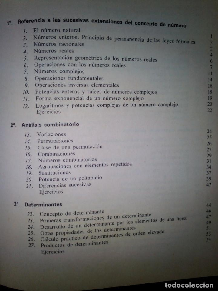 Libros de segunda mano de Ciencias: Elementos de Matemáticas. José Martínez Salas. - Foto 6 - 129220219