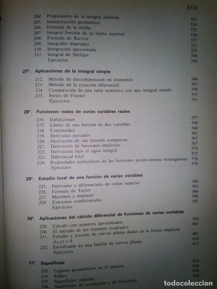 Libros de segunda mano de Ciencias: Elementos de Matemáticas. José Martínez Salas. - Foto 9 - 129220219