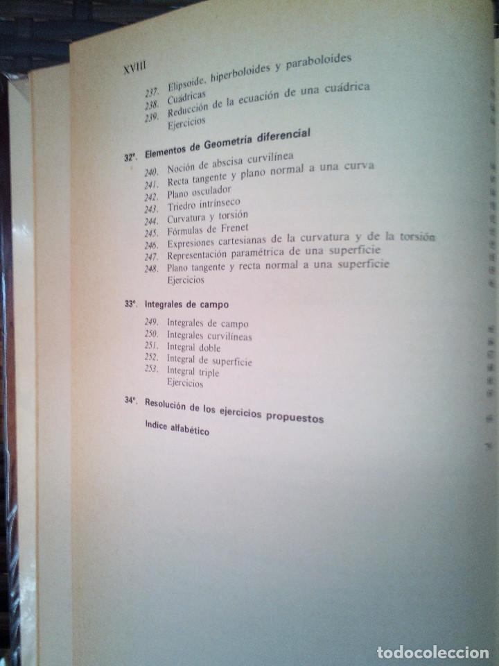 Libros de segunda mano de Ciencias: Elementos de Matemáticas. José Martínez Salas. - Foto 10 - 129220219