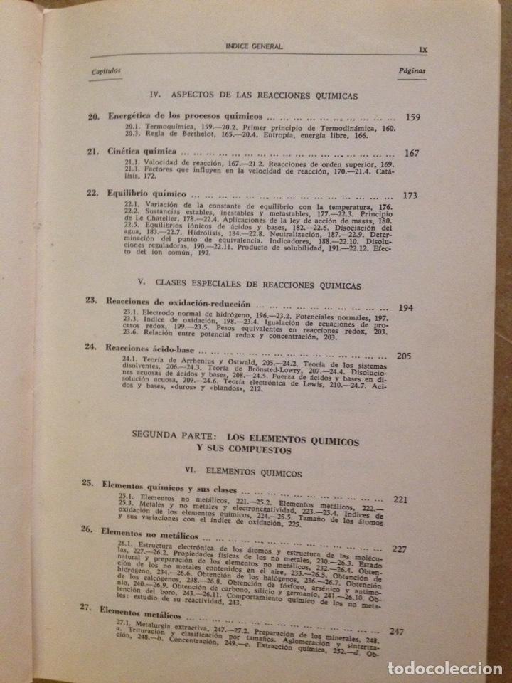 Libros de segunda mano de Ciencias: Química universitaria básica (Rafael Usón) - Foto 4 - 129525971