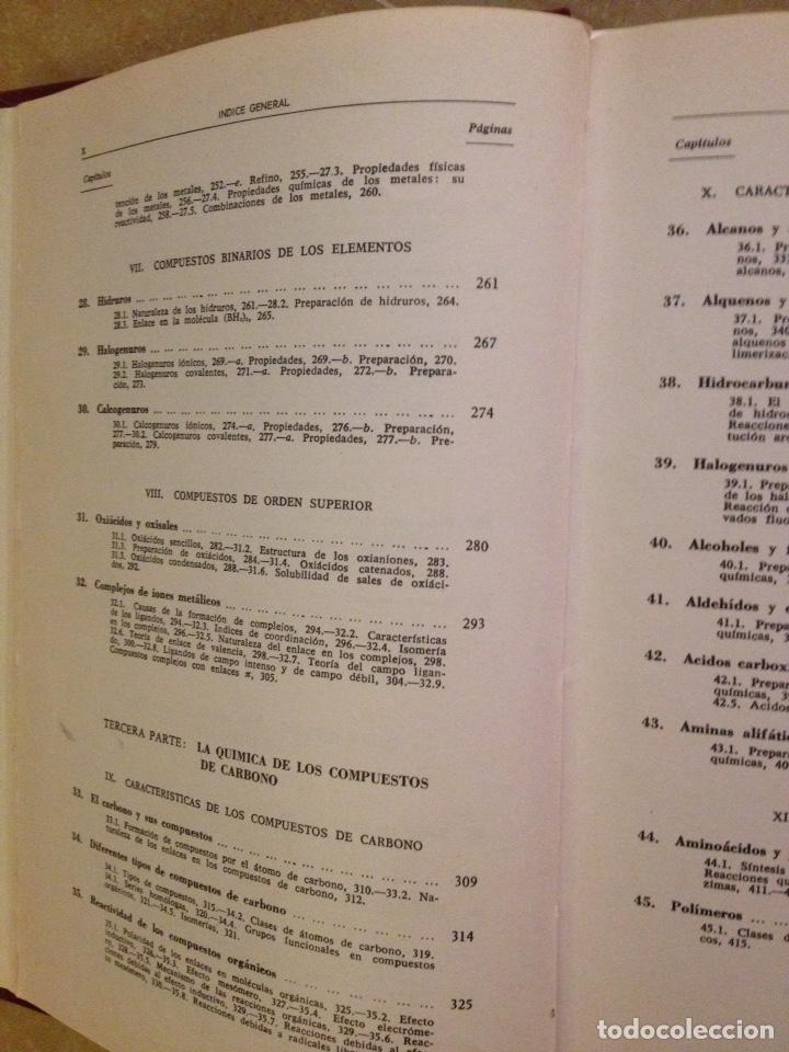 Libros de segunda mano de Ciencias: Química universitaria básica (Rafael Usón) - Foto 5 - 129525971