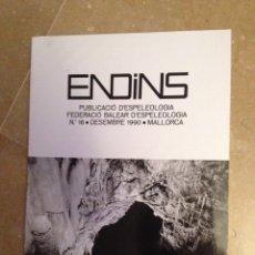 Libros de segunda mano: ENDINS N 16 (ESPELEOLOGÍA MALLORCA). Lote 129663410