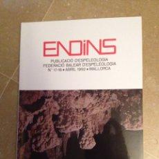 Libros de segunda mano: ENDINS N 17 - 18 (ESPELEOLOGÍA MALLORCA) LAS COVES DEL DRAC, SERRA DE NA BURGUESA. Lote 129663695