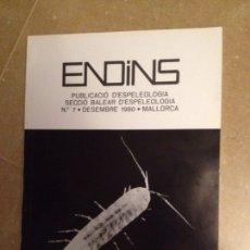 Libros de segunda mano: ENDINS N 7 (ESPELEOLOGÍA MALLORCA). Lote 129664207