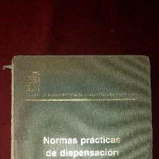 Libros de segunda mano de Ciencias: NORMAS PRACTICAS DE DISPERSIÓN. Lote 130242238