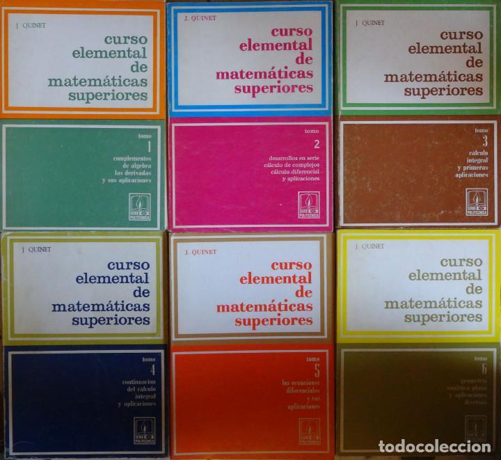 CURSO ELEMENTAL DE MATEMÁTICAS SUPERIORES (6 TOMOS- COMPLETA) - J. QUINET (Libros de Segunda Mano - Ciencias, Manuales y Oficios - Física, Química y Matemáticas)