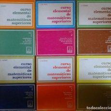 Libros de segunda mano de Ciencias: CURSO ELEMENTAL DE MATEMÁTICAS SUPERIORES (6 TOMOS- COMPLETA) - J. QUINET. Lote 130273038