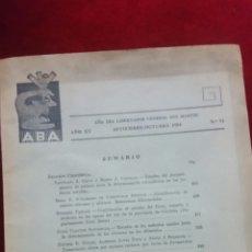 Libros de segunda mano: REVISTA DE LA ASOCIACIÓN BIOQUÍMICA ARGENTINA.. Lote 130425543