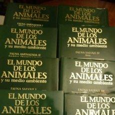Libros de segunda mano: EL MUNDO DE LOS ANIMALES Y SU MEDIO AMBIENTE, 8 VOL. PLANETA, NUEVA,SIMIL PIEL SOBRECUBIERTA. Lote 130570870