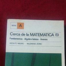 Libros de segunda mano de Ciencias: CERCA DE LA MATEMÁTICA (1). Lote 131265011