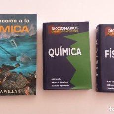 Libros de segunda mano de Ciencias: LOTE DE 3 LIBROS Y DICCIONARIOS DE QUÍMICA / FÍSICA (NUEVOS). Lote 131731430