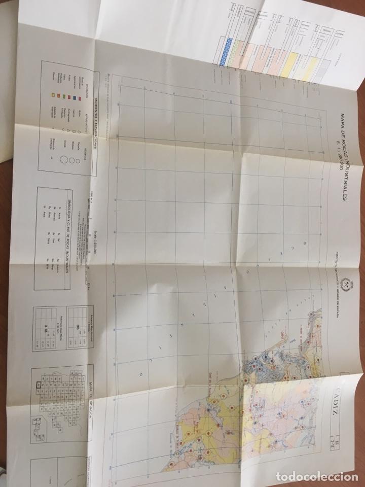 Libros de segunda mano: Mapa de rocas industriales. Cádiz. Instituto geológico y minero de España. Escala 1: 200000 - Foto 5 - 132136301